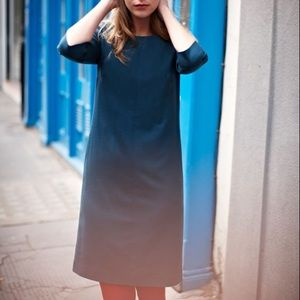 Boden City Life Wool Blend Teal Tunic Dress